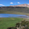 Vista de la laguna en Sierra Baguales