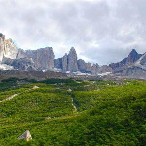 Bosque y Montañas del Parque Nacional Torres del Paine