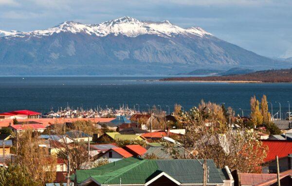 Vista de la ciudad de Puerto Natales