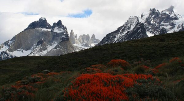 Vista del Valle del Francés en Parque Torres del Paine