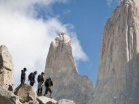 Trekking en la base de las Torres del Paine
