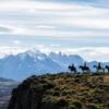 Cabalgata en la Patagonia con vista a Torres del Paine
