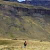 Persona en trekking por Sierra Baguales