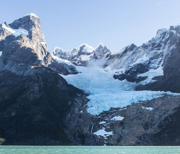 Vista panorámica del glaciar Balmaceda